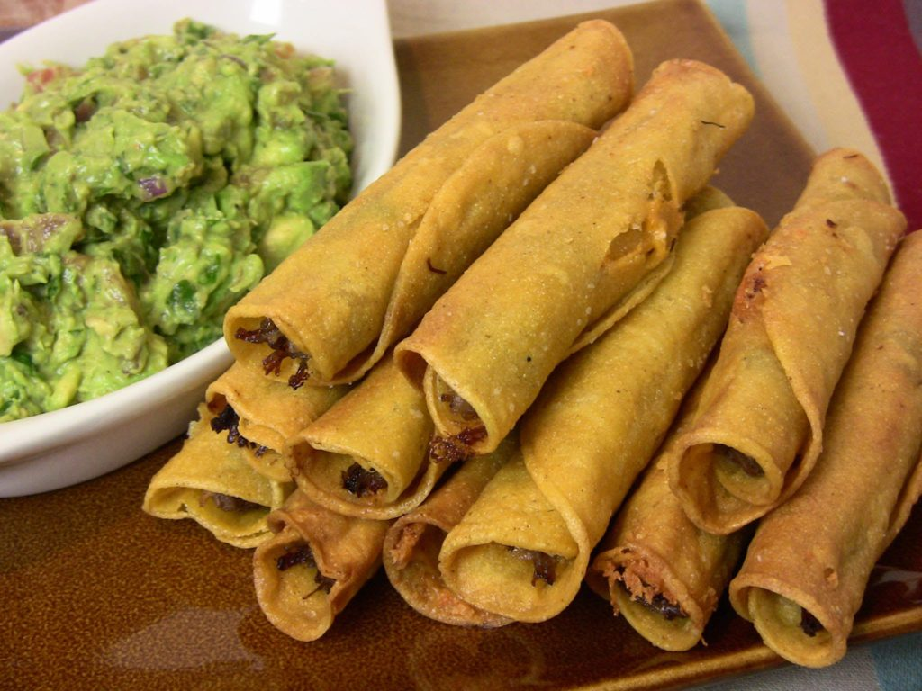 chicken taquitos - a summer meal