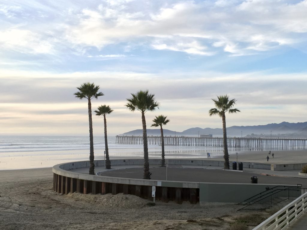 Pismo Beach pier - stay close to the pier for the best views