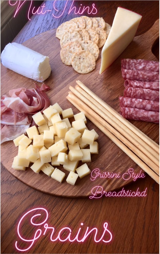 Cheese and Charcuterie nuts and grains