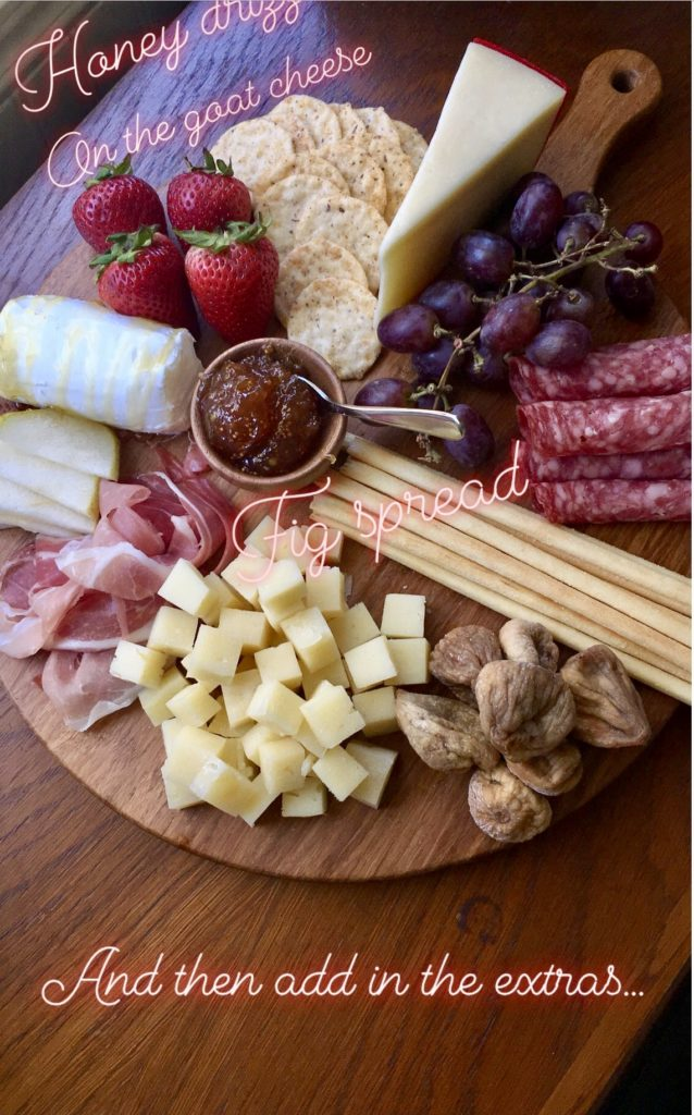 Charcuterie spread ingredients