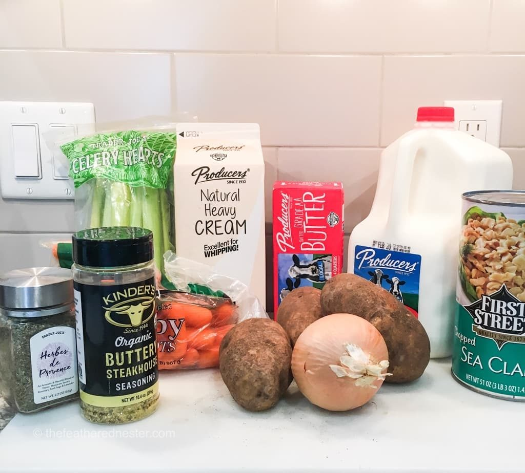 what you need to make Ultimate Clam Chowder