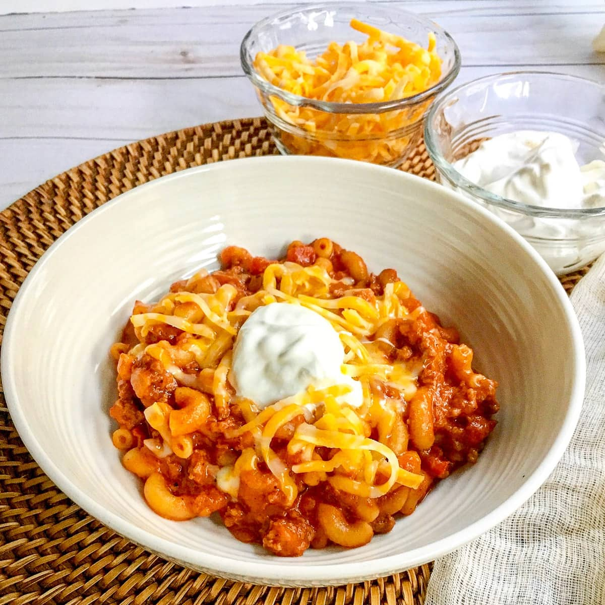 Instant Pot Chili Mac with Cheese