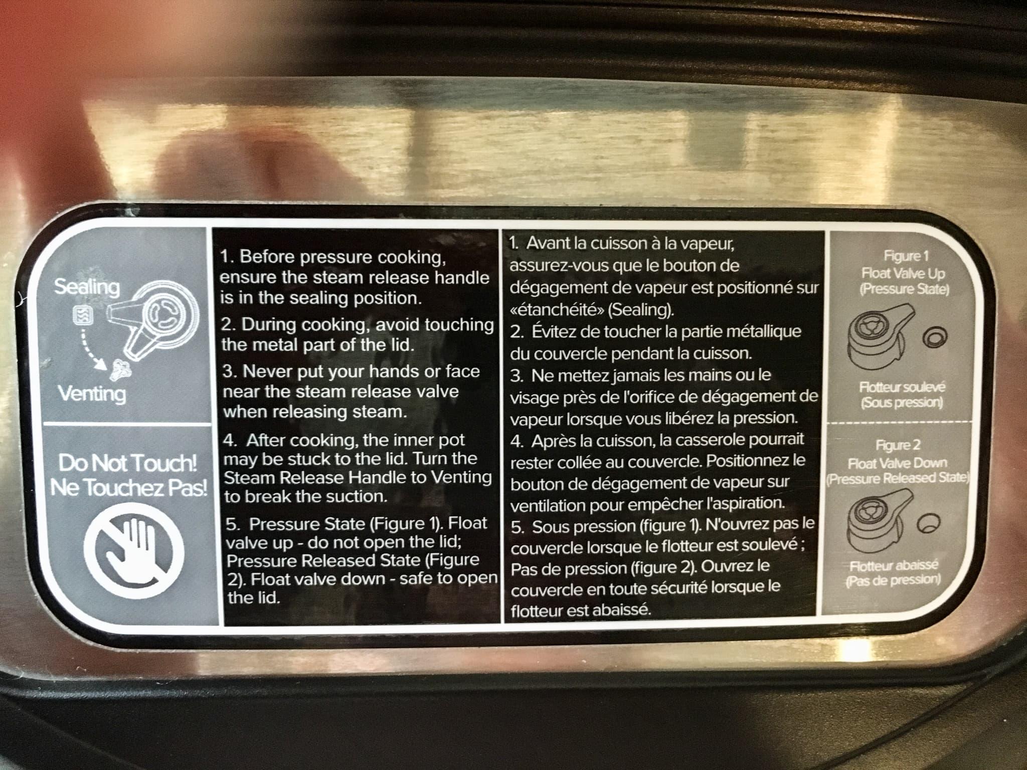 instructional warning label