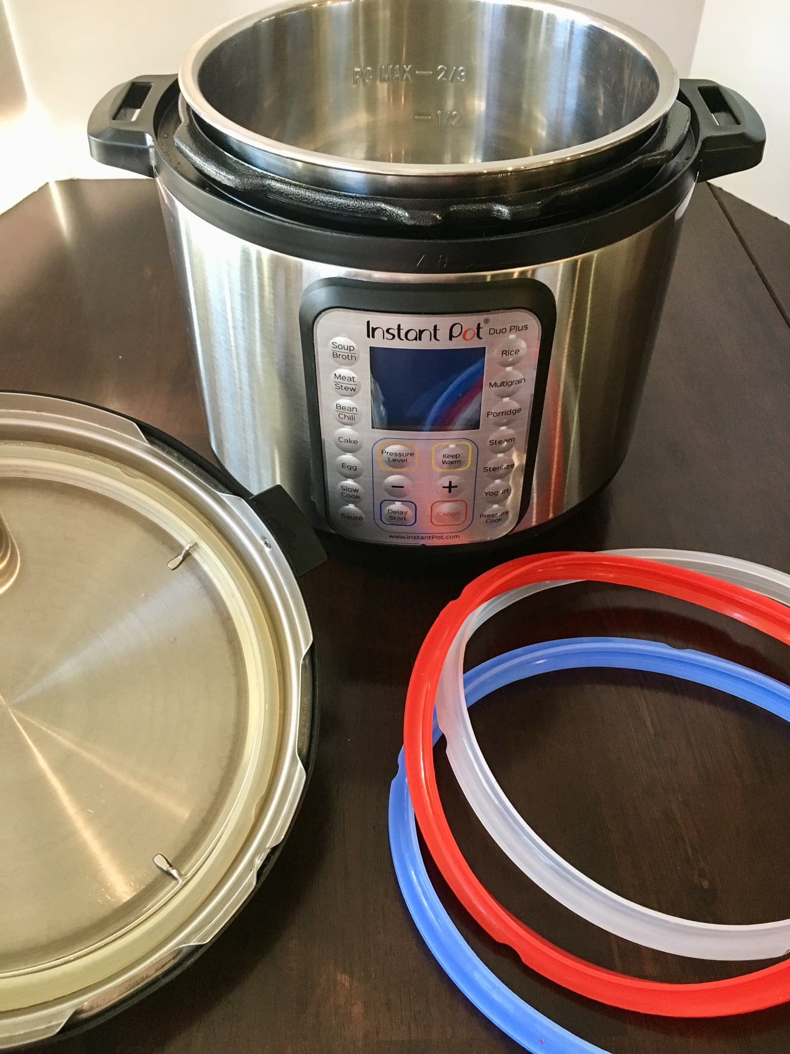 this photo illustrates the supplies used for basics of pressure cooking