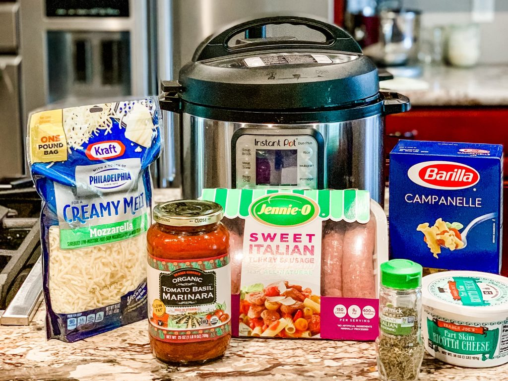 Instant Pot easy lasagna cooking ingredients