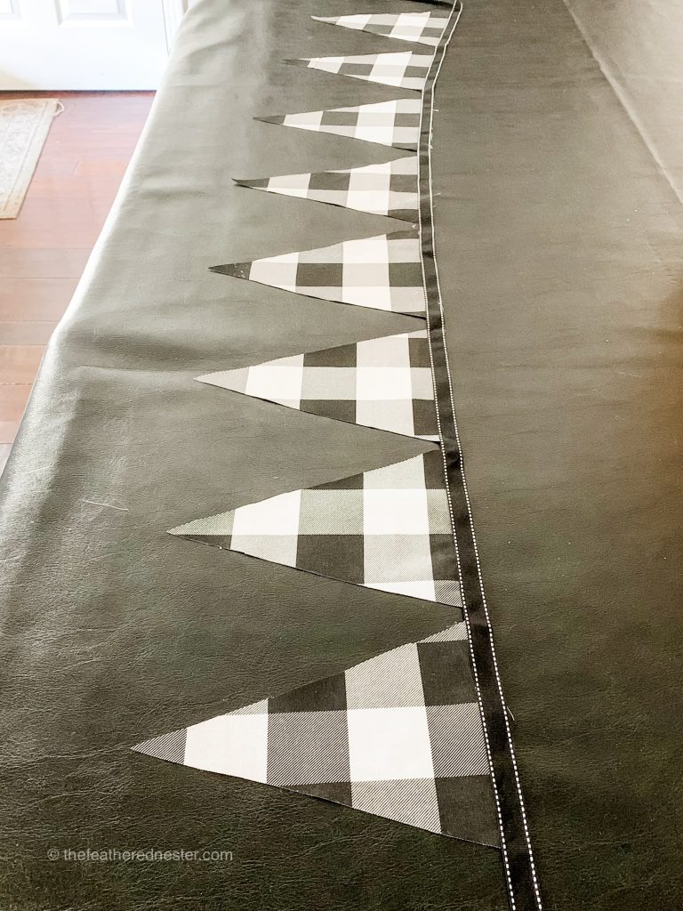 diy pennant garland for the holidays