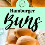 photos of freshly baked hamburger buns