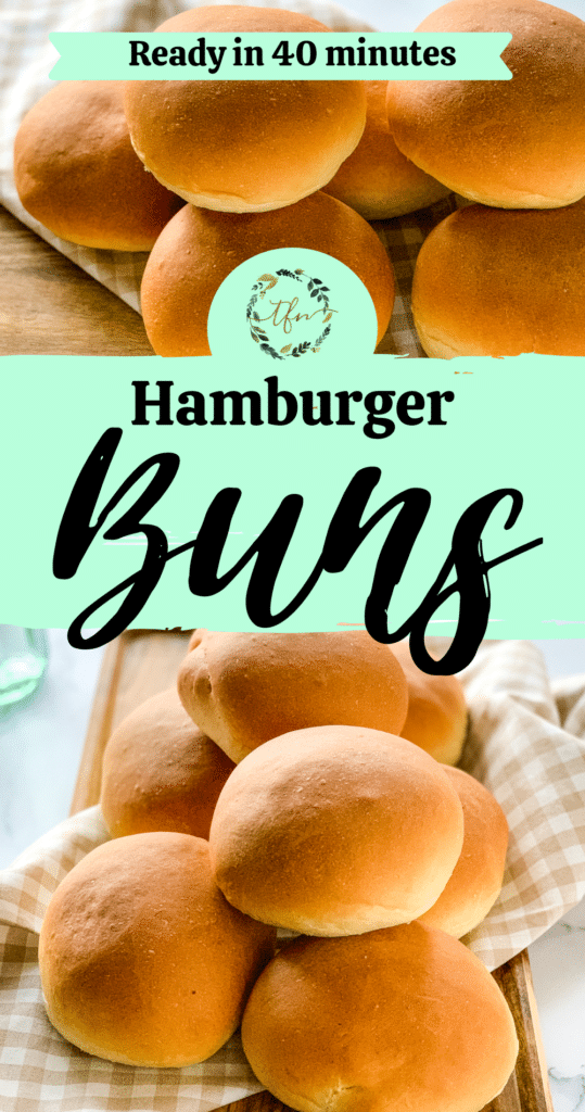 40 Minute Hamburger Buns