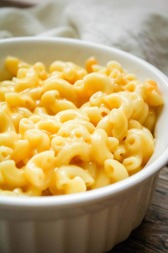 bowl of Mac and Cheese with just 5 ingredients