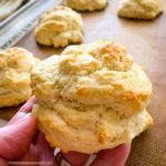close up of easy drop biscuit