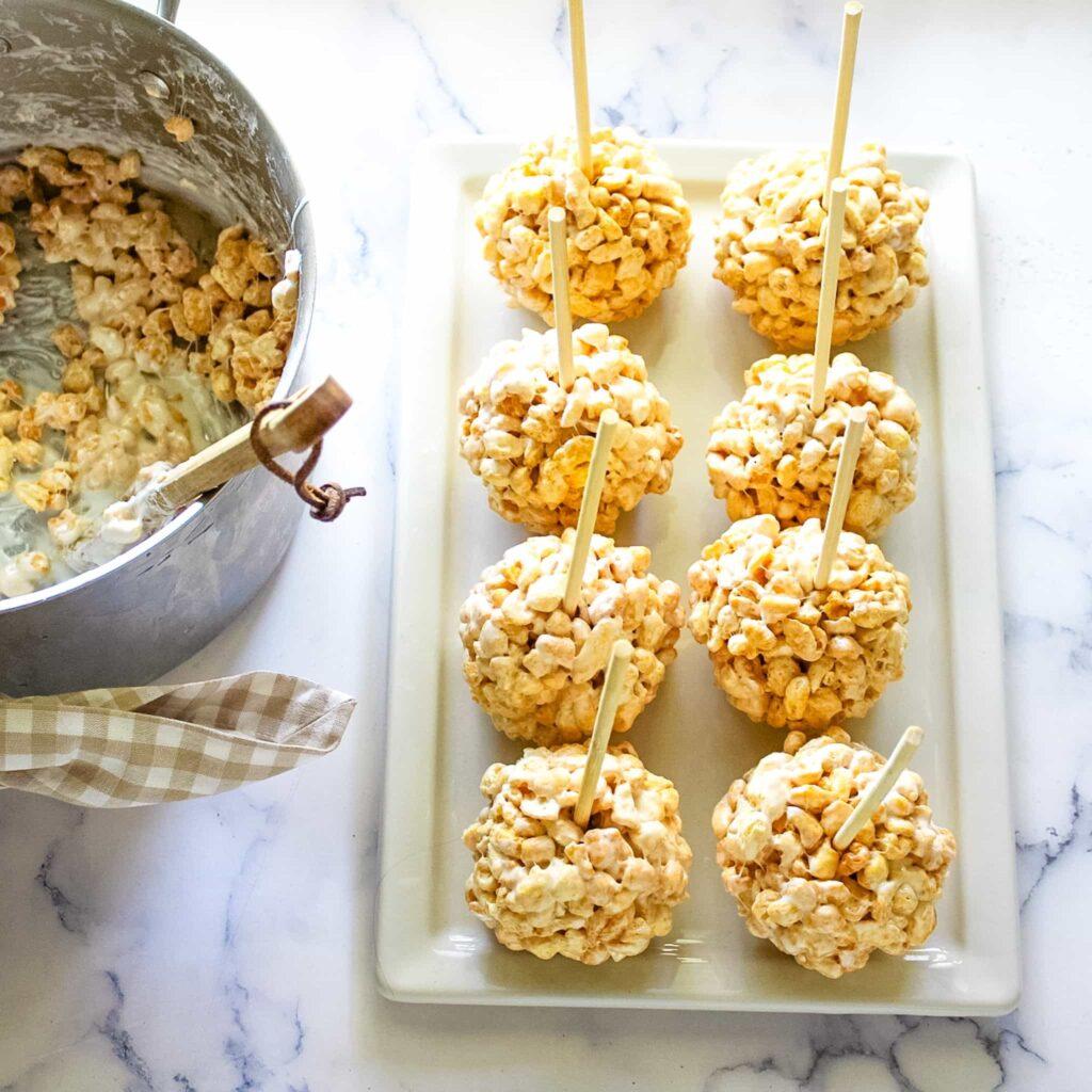 cereal ball marshmallow snacks