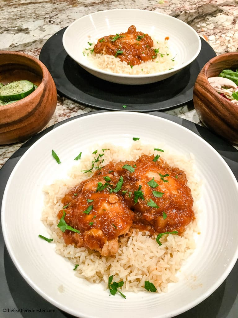 huli huli chicken thighs made in the pressure cooker