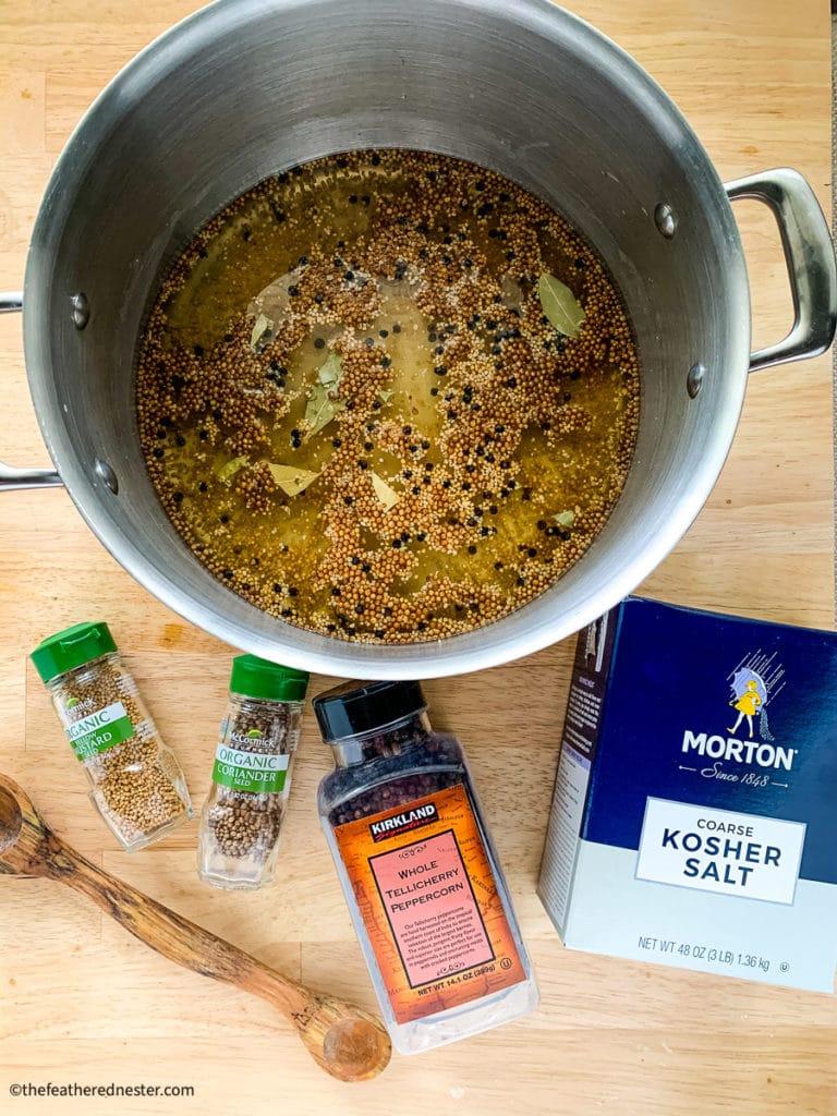 turkey brine before adding the buttermilk