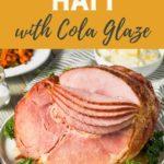 Spiral sliced ham on a serving platter