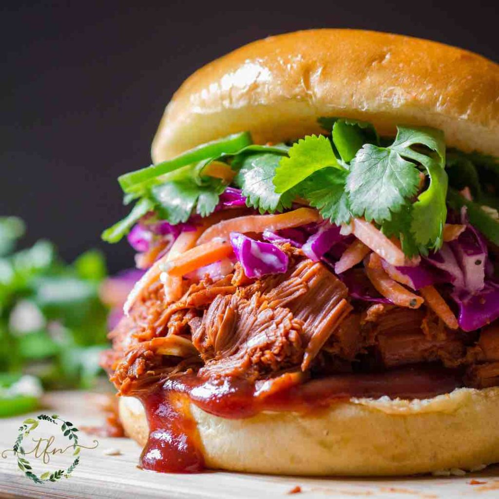 BBQ Pulled Beef on a roll