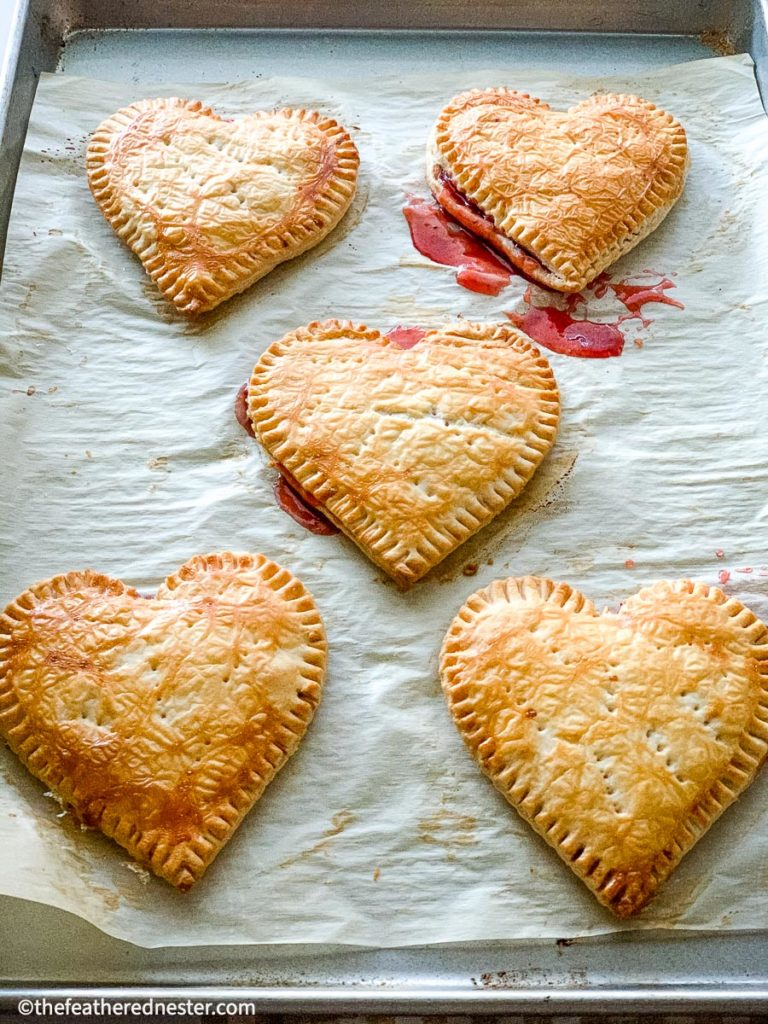 Heart shaped desserts become valentine's day treat ideas thanks to premade pastries dough