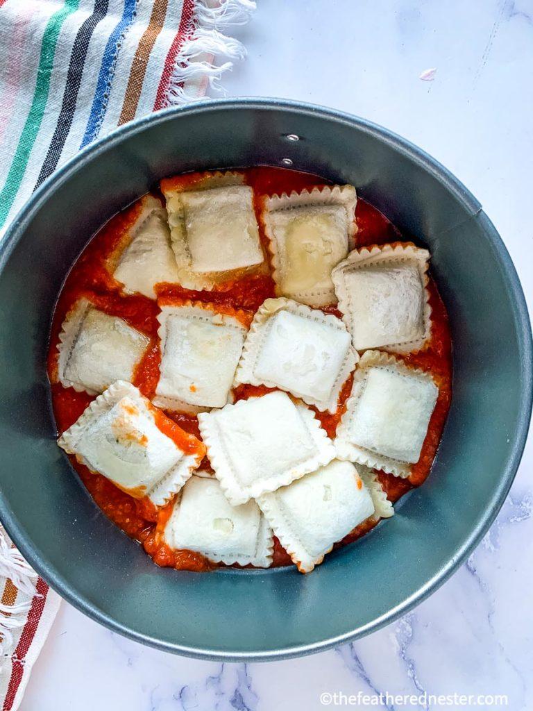instant pot frozen ravioli