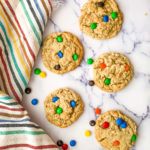 Oatmeal Cookies with M&Ms