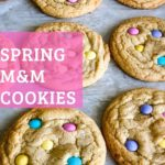 Cookies with pastel colored M&Ms