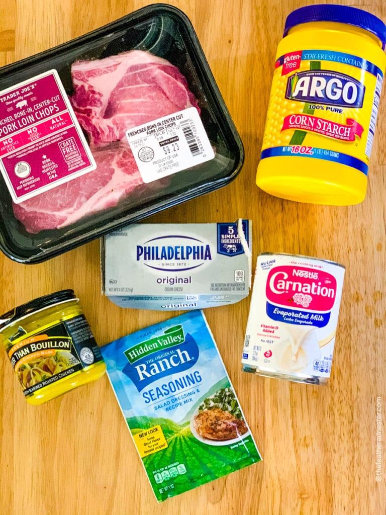 Ingredients for crock pot pork chops