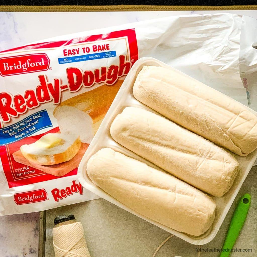 A package of Bridgford Ready-Dough frozen bread dough