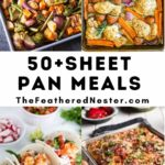 a collage of sheet pan meals