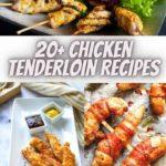 a collage of chicken tenderloin recipes