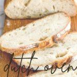 a sliced loaf od dutch oven sourdough bread