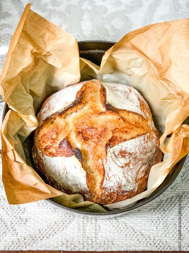 dutch oven baked sourdough bread