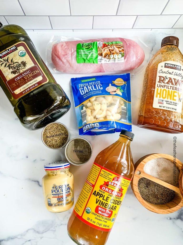 ingredients for the turkey tenderloin marinade